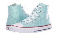 [ Hot Deals ] Converse Kids Chuck Taylor All Star Sparkle - Hi (Little Kid/Big Kid) Teal Tint/Enamel Red/White