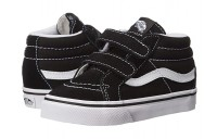 [ Black Friday 2019 ] Vans Kids SK8 Mid Reissue V (Toddler) Black/True White