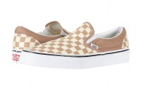 [ Hot Deals ] Vans Classic Slip-On™ (Checkerboard) Tiger's Eye/White
