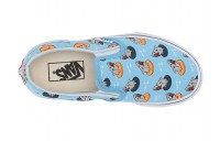 [ Hot Deals ] Vans Kids Classic Slip-On (Little Kid/Big Kid) (Floatie Sharks) Sailor Blue/True White