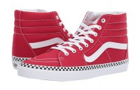 Vans SK8-Hi™ (Check Foxing) Racing Red/True White Black Friday Sale