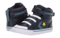 [ Hot Deals ] Converse Kids Pro Blaze Strap - Hi (Infant/Toddler) Obsidian/Celestial Teal/Bold Citron