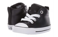 [ Hot Deals ] Converse Kids Chuck Taylor All Star Street - Mid (Infant/Toddler) Black/Black/White