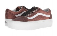 [ Hot Deals ] Vans Old Skool Platform (Glitter) Bronze/True White