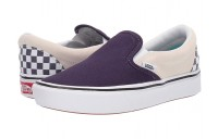 [ Hot Deals ] Vans ComfyCush Slip-On (Checkerboard) Mysterioso/True White