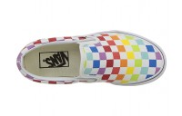[ Hot Deals ] Vans Classic Slip-On™ (Checkerboard) Rainbow/True White