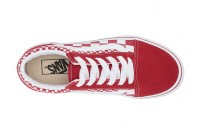 [ Hot Deals ] Vans Kids Old Skool (Little Kid/Big Kid) (Mix Checker) Chili Pepper/True White