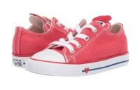 Hot Sale Converse Kids Chuck Taylor All Star Denim Love - Ox (Infant/Toddler) Sedona Red/Enamel Red/Blue