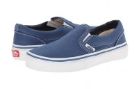 Vans Kids Classic Slip-On (Little Kid/Big Kid) Navy/True White Black Friday Sale