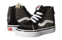 Buy Vans Kids Sk8-Hi Zip (Toddler) (2 Tone) Black/Charcoal