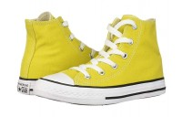 [ Hot Deals ] Converse Kids Chuck Taylor® All Star® Seasonal - Hi (Little Kid/Big Kid) Bold Citron/Natural Ivory/White