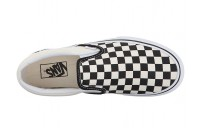 Christmas Deals 2019 - Vans Classic Slip-On Platform Black and White Checker/White