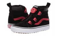 [ Hot Deals ] Vans Kids SK8-Hi MTE Boa (Little Kid/Big Kid) (MTE) Black/Racing Red