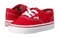 Vans Kids Authentic Core (Toddler) Red Black Friday Sale