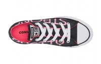 Converse Kids Chuck Taylor All Star Pretty Strong - Ox (Little Kid/Big Kid) Black/Racer Pink/White