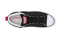 [ Hot Deals ] Converse Chuck Taylor® All Star Street Mid Black/White/Enamel Red