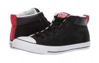 Black Friday Converse Chuck Taylor® All Star Street Mid Black/White/Enamel Red Sale