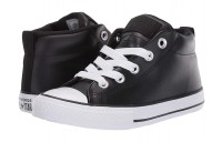 Black Friday Converse Kids Chuck Taylor All Star Street - Mid (Little Kid/Big Kid) Black/Black/White Sale