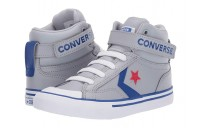 [ Hot Deals ] Converse Kids Pro Blaze Strap - Hi (Little Kid/Big Kid) Wolf Grey/Blue/Enamel Red