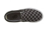 Christmas Deals 2019 - Vans Kids Classic Slip-On (Little Kid/Big Kid) (Checkerboard) Black/Pewter
