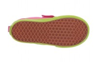 [ Hot Deals ] Vans Kids Slip-On V (Toddler) (Watermelon) Carmine Rose/Lime Green