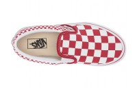 [ Hot Deals ] Vans Kids Classic Slip-On (Little Kid/Big Kid) (Mix Checker) Chili Pepper/True White