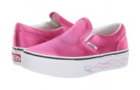 Vans Kids Classic Slip-On Platform (Little Kid/Big Kid) (Sidewall Flame) Carmine Rose Black Friday Sale