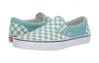[ Black Friday 2019 ] Vans Classic Slip-On™ (Checkerboard)Aqua Haze/True White