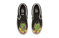 Vans Kids Classic Slip-On (Little Kid/Big Kid) (Demon Trolls) Black/True White