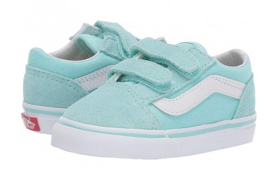 Christmas Deals 2019 - Vans Kids Old Skool V (Toddler) Blue Tint/True White