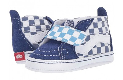 Buy Vans Kids SK8-Hi Crib (Infant/Toddler) (Checkerboard) True Navy/Bonnie Blue