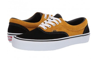 Christmas Deals 2019 - Vans Era Pro (Corduroy) Black/Yolk Yellow