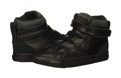 [ Hot Deals ] Converse Kids Pro Blaze Strap - Hi (Infant/Toddler) Black/Black/Black