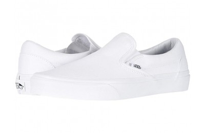 [ Hot Deals ] Vans Classic Slip-On™ Core Classics True White (Canvas)
