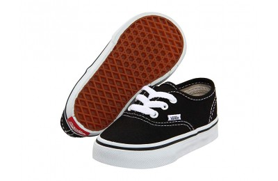 Vans Kids Authentic Core (Toddler) Black Black Friday Sale