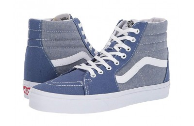 [ Hot Deals ] Vans SK8-Hi™ (Chambray) Canvas True Navy/True White