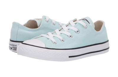 Hot Sale Converse Kids Chuck Taylor® All Star® Seasonal - Ox (Little Kid/Big Kid) Teal Tint/Natural Ivory/White