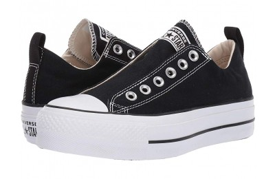 [ Hot Deals ] Converse Chuck Taylor® All Star® Lift Slip Ox Black/White/Black