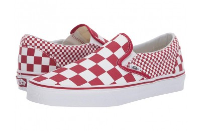 Vans Classic Slip-On™ (Mixed Checker) Chili Pepper/True White