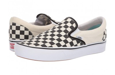 Christmas Deals 2019 - Vans ComfyCush Slip-On (Classic) Checkerboard/True White