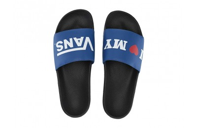 [ Black Friday 2019 ] Vans Slide-On (I Love Vans) True Blue/Black