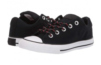 Hot Sale Converse Kids Chuck Taylor All Star Street - Slip (Little Kid/Big Kid) Black/Enamel Red/White