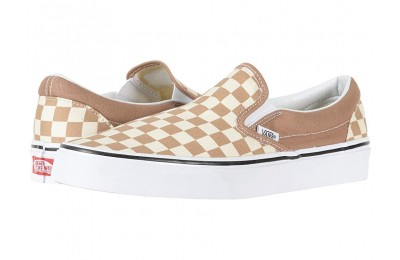 Vans Classic Slip-On™ (Checkerboard) Tiger's Eye/White Black Friday Sale