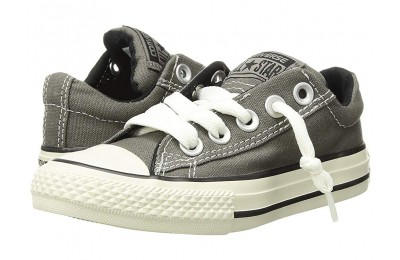 Hot Sale Converse Kids Chuck Taylor® All Star® Street Ox (Little Kid/Big Kid) Charcoal