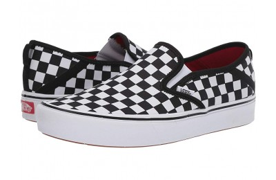 Christmas Deals 2019 - Vans ComfyCush Slip-On SF (Checkerboard) Black/True White