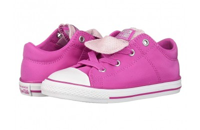 Christmas Deals 2019 - Converse Kids Chuck Taylor All Star Maddie Metallic - Slip (Infant/Toddler) Active Fuchsia/Pink Foam/White