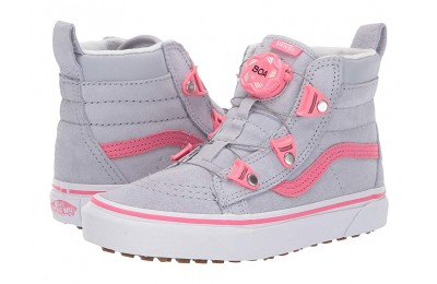 [ Hot Deals ] Vans Kids SK8-Hi MTE Boa (Little Kid/Big Kid) (MTE) Gray Dawn/Pink