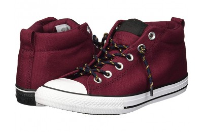 Hot Sale Converse Kids Chuck Taylor All Star Street - Mid (Little Kid/Big Kid) Dark Burgundy/Black/Turmeric Gold