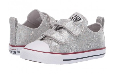 Hot Sale Converse Kids Chuck Taylor All Star 2V Sparkle - Ox (Infant/Toddler) Mouse/Enamel Red/White