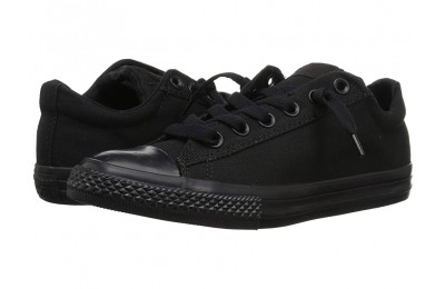 [ Black Friday 2019 ] Converse Kids Chuck Taylor® All Star® Street Ox (Little Kid/Big Kid) Black Mono